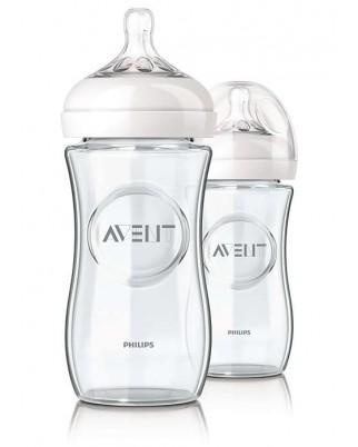 AVENT玻璃奶瓶8oz-3瓶裝